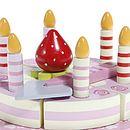 Wooden Toy Birthday Cake