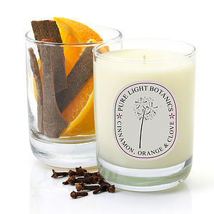 Comforting Cinnamon, Orange And Clove Candle - christmas lights