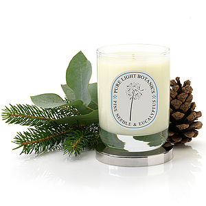 Pine Needle And Eucalyptus Christmas Candle - lighting