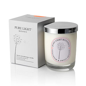Nourishing Geranium And Orange Natural Candle
