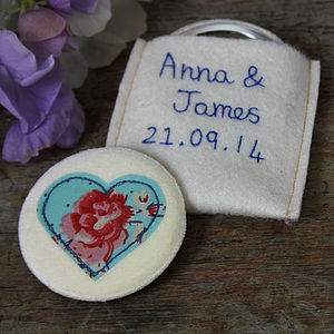 Personalised 'Something Blue' Bride's Mirror - bridal beauty