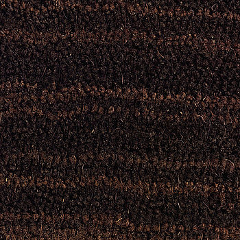 Coloured Coir Doormat Brown With Tan Wave