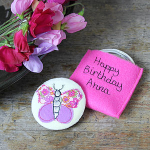 Personalised Butterfly Compact Mirror - pets