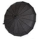 Black Mega Sparkle Umbrella with clear sparkles