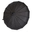 Black Mega Sparkle Umbrella with clear sparkles
