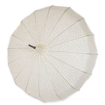 Ivory Mega Sparkle Umbrella with multicoloured sparkles