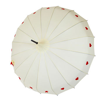 Ivory and Red Love to Dream Umbrella