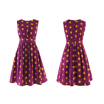 Lucy Dress In Orange Spot