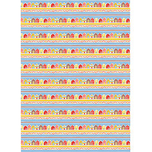 Beach Huts Wrapping Paper