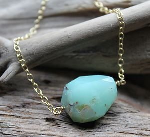 Chrysoprase Personalised Bead Necklace