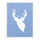 Stag screen print - blue
