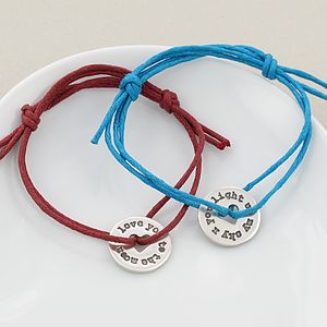 Personalised Solar Disc Friendship Bracelet - children's jewellery