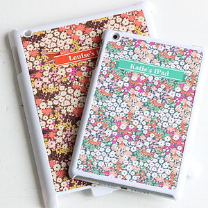 Personalised Floral iPad Case