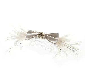Bow And Feather Headpiece