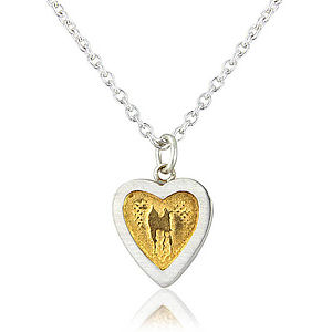 'Hearts Of Gold' Silver Heart Necklace - necklaces & pendants