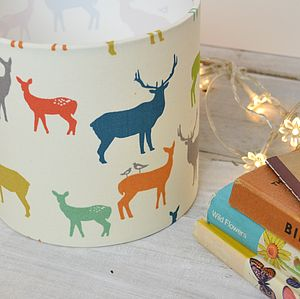 Deer Family Handmade Lampshade - dining room