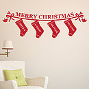 Personalised Christmas Stockings Wall Sticker
