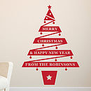 Personalised Christmas Tree Vinyl Wall Sticker