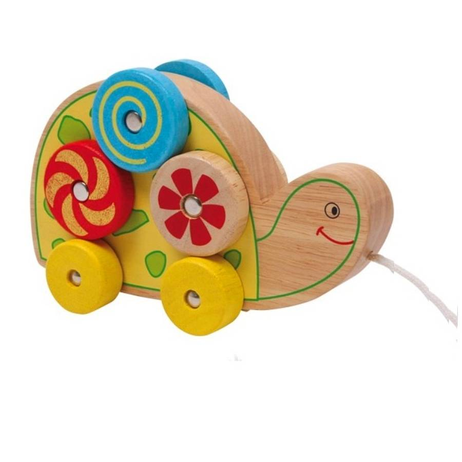 wooden pull along turtle toy by british and bespoke ...