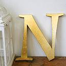Genuine Vintage Metal Gold Letters