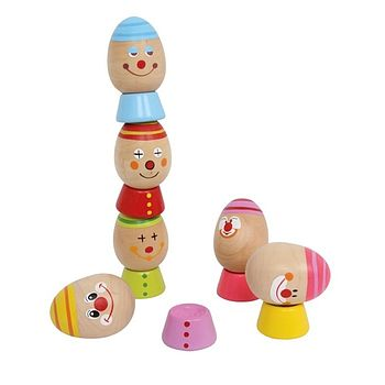 Wooden Eggs Stacking Game And Balancing Toy