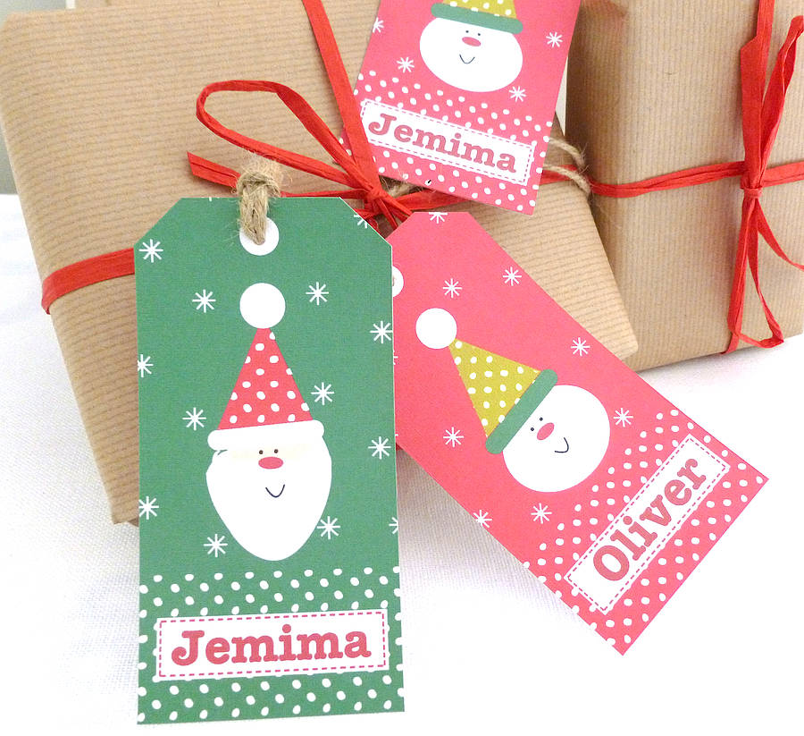 personalised christmas gift tags by tillie mint | notonthehighstreet ...