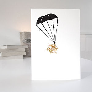 Parachute Christmas Card - christmas card packs