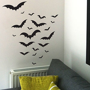 Halloween Bats Wall Sticker Set - wall stickers