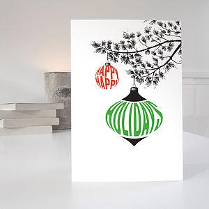 'Happy Holidays' Christmas Card