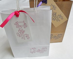 'Daughter' Gift Bag And Tag : Two Sizes - wrapping