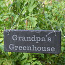 Sign for Grandpa's Greenhouse