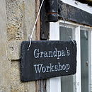 Thumb engraved slate grandpa s garden sign