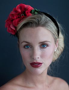Vintage Poppy Headpiece