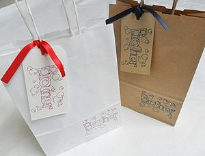 'Brother' Gift Bag And Tag : Two Sizes - ribbon & wrap