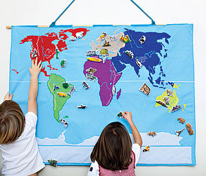 World Map Wall Hanging - gifts for children