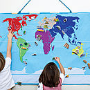 World Map Children's Wall Hanging