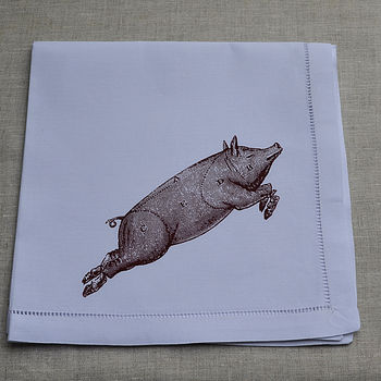 Pig Table Napkin