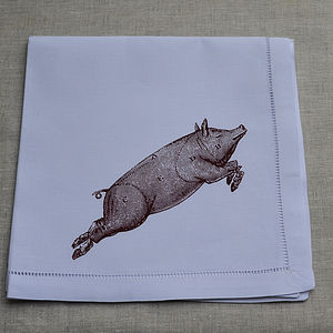 Pig Table Napkin - table linen
