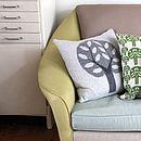45cm Knitted Lambswool Big Tree Cushion