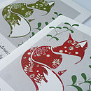 10 Personalised Christmas Cards With Fox
