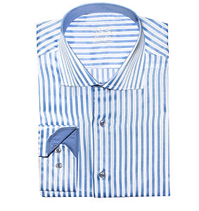 Men's Slim Fit Striped Shirt - best dressed guest