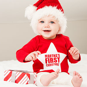 Personalised 'First Christmas' Top - baby's first Christmas