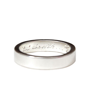 Ladies Personalised Silver Band - rings
