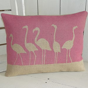 ' Flamboyance Of Flamingos ' Cushion