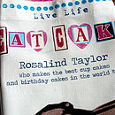 Mother's Day Personalised 'Eat Cake' Apron