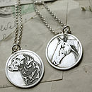 Cameo Style Silver Pendant Of Your Pet