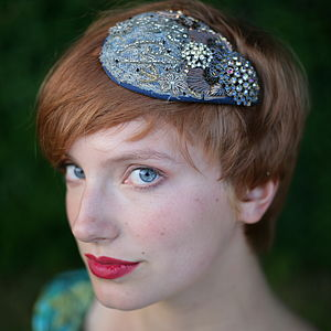 Sparkly Teardrop Headdress - hats & fascinators