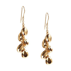 Pyrite If Only It Rained Gemstones Earrings - earrings