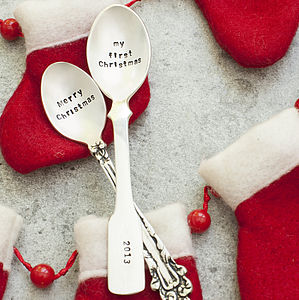 Christmas Silver Plated Teaspoon