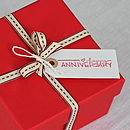 'Happy Anniversary' Gift Tag